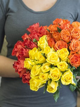 Bouquets: Bright Rose Bouquet - 45 Roses